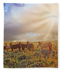 Led By The Light Fleece Blanket