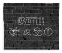 Led Zeppelin Brick Wall Fleece Blanket