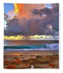Left Behind - From Singer Island Florida. Fleece Blanket