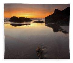 Left By The Tides Fleece Blanket
