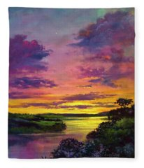 Legend Of A Sunset  Fleece Blanket