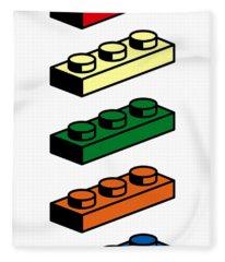 Lego T-shirt Pop Art Fleece Blanket