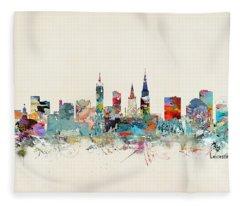 Leicester City England Fleece Blanket