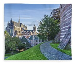 Leiden, The Church And The Castle Fleece Blanket