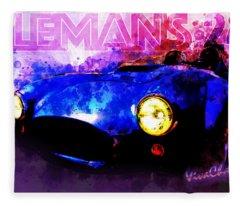 Lemans 24 Speed Racer Fleece Blanket