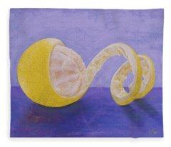 Lemon Peel Twist Fleece Blanket