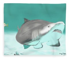 Lemon Shark Fleece Blanket