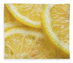 Lemon Slices Number 3 Fleece Blanket
