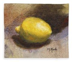 Lemon Still Life Fleece Blanket
