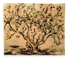 Lemon Tree Fleece Blanket