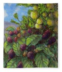 Lemons And Berries Fleece Blanket