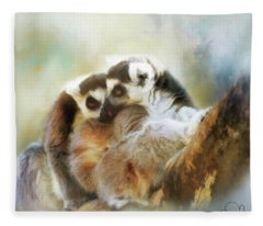 Lemur Cuddle Fleece Blanket