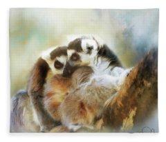 Lemur Cuddle Fleece Blanket