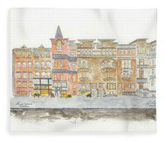 Lenox Avenue In Harlem Fleece Blanket