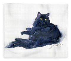 Leon Portrait Fleece Blanket