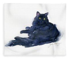 Leon Portrait Fleece Blanket