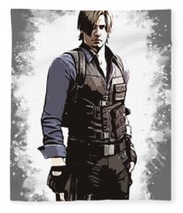 Leon S. Kennedy Fleece Blanket