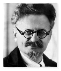 Leon Trotsky Portrait Fleece Blanket