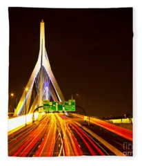 Leonard P. Zakim Bunker Hill Bridge  Fleece Blanket