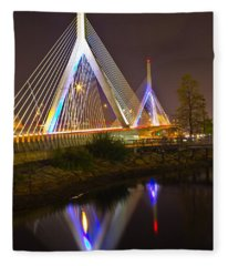 Leonard P. Zakim Bunker Hill Bridge Reflection Fleece Blanket