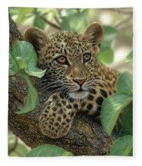 Leopard Cub - Tree Hugger Fleece Blanket