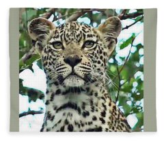 Leopard Face Fleece Blanket