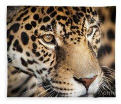 Leopard Face Fleece Blanket