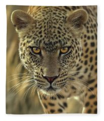 Leopard - On The Prowl Fleece Blanket