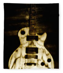 Les Paul Guitar Fleece Blanket