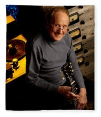 Les Paul With The Octopus By Gene Martin Fleece Blanket