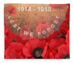 Lest We Forget - 1914-1918 Fleece Blanket