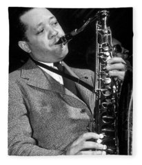 Lester Young  Fleece Blanket