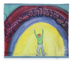 Let Go And Let God  Fleece Blanket