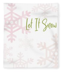 Let It Snow Snowflakes- Art By Linda Woods Fleece Blanket