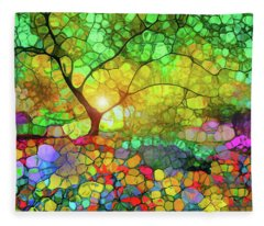 Let This Light Bring You Home Fleece Blanket