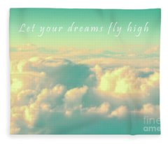 Let Your Dreams Fly High Fleece Blanket