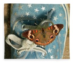 Let Your Spirit Fly Free- Butterfly Nature Art Fleece Blanket