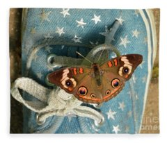 Let Your Spirit Fly Free- Butterfly Nature Art Fleece Blanket