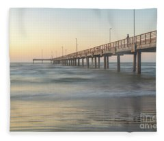 Let's Go Fishing In Port Aransas Texas Fleece Blanket