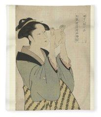 Letter Reading Woman, Kitagawa Utamaro, 1793 - 1797 Fleece Blanket