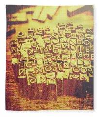 Letterpress Industrial Pop Art Fleece Blanket