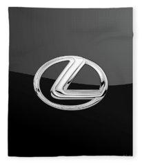 Lexus - 3d Badge On Black Fleece Blanket