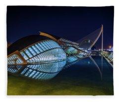 L'hemisferic In Valencia Fleece Blanket