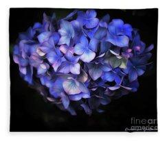 l'Hortensia bleu Fleece Blanket