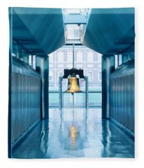 Liberty Bell Hanging In A Corridor Fleece Blanket