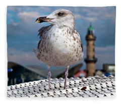Liberty Of An Pacific Gull Fleece Blanket