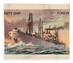 Liberty Ship Stamp Fleece Blanket