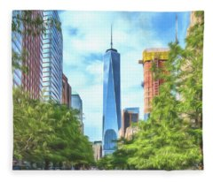 Liberty Tower Fleece Blanket