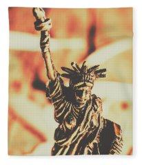 Liberty Will Enlighten The World Fleece Blanket