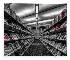 Library Books Fleece Blanket
